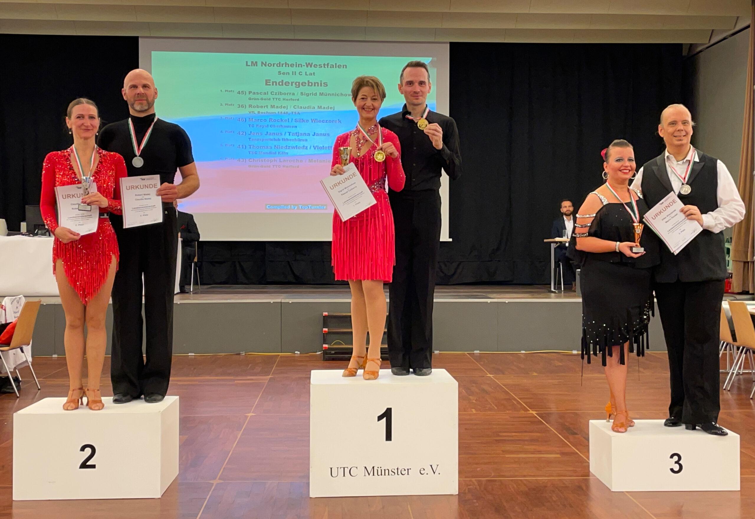 Herzlichen Glückwunsch zum Landesmeistertitel, Pascal und Sigrid!